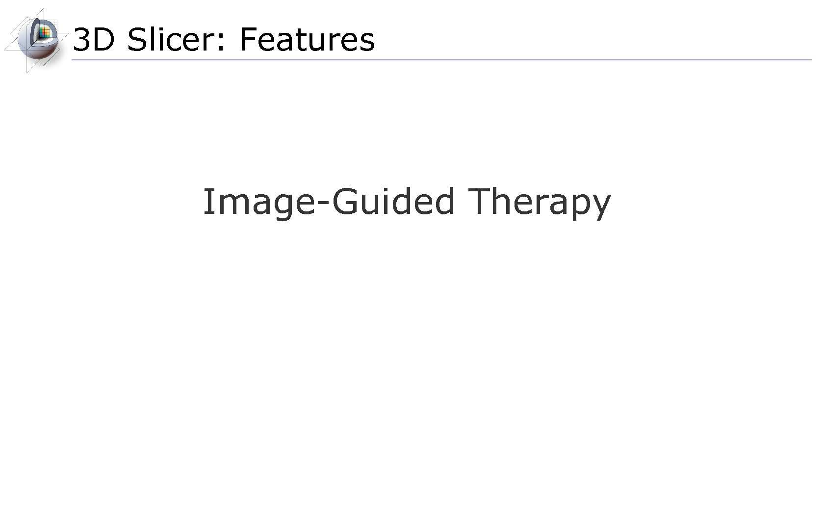 3 D Slicer: Features Image-Guided Therapy