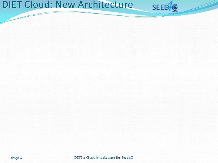 DIET Cloud: New Architecture 6/03/12 DIET a Cloud Middleware for Seed 4 C