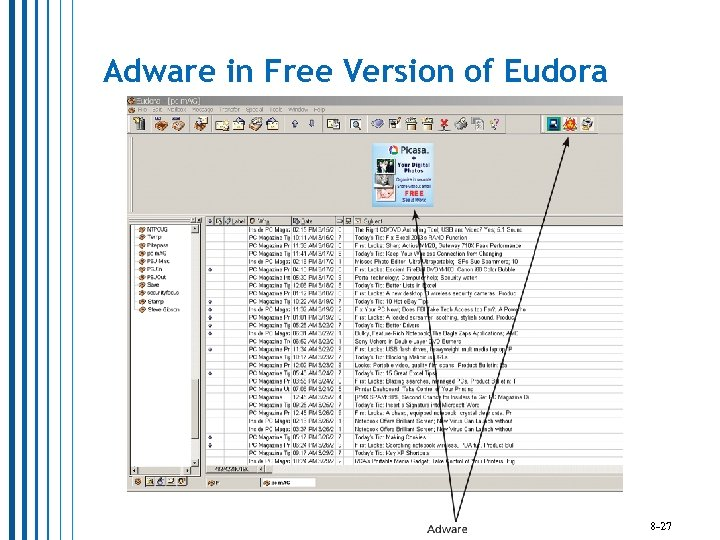 Adware in Free Version of Eudora 8 -27