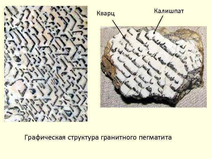 Кварц Калишпат Графическая структура гранитного пегматита