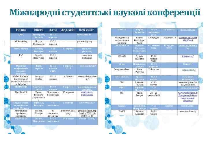 Міжнародні студентські наукові конференції