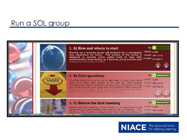 Run a SOL group