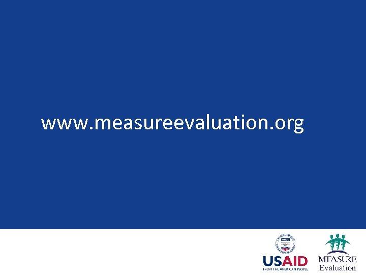 www. measureevaluation. org