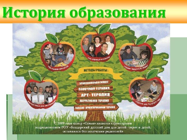 История образования С 2009 года Центр «Семь Я» является структурным подразделением ГОУ «Бендерский детский