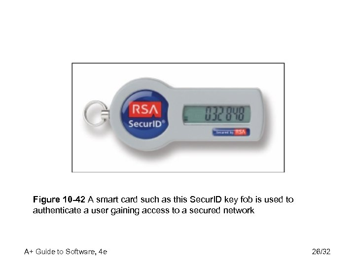 Figure 10 -42 A smart card such as this Secur. ID key fob is