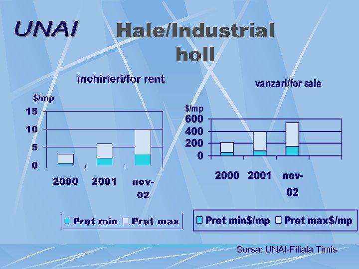 Hale/Industrial holl Sursa: UNAI-Filiala Timis
