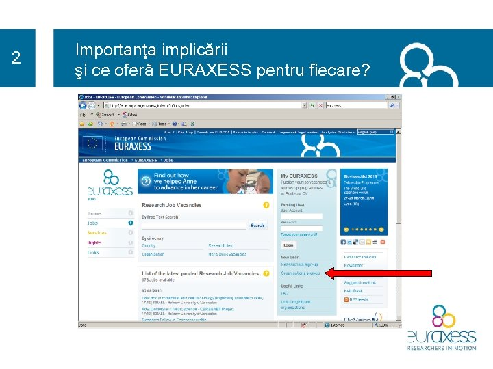 2 Importanţa implicării şi ce oferă EURAXESS pentru fiecare?