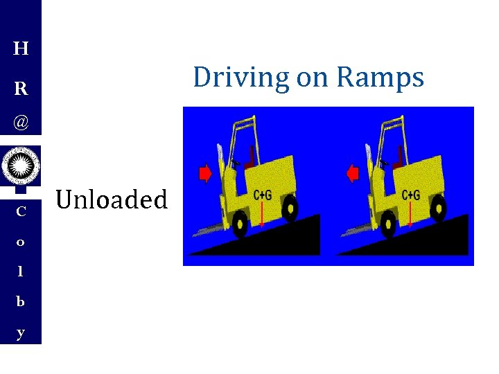 H Driving on Ramps R @ C o l b y Unloaded