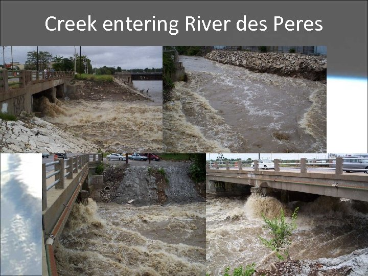 Creek entering River des Peres