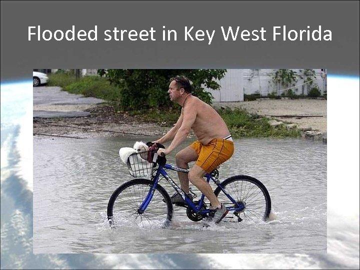 Flooded street in Key West Florida