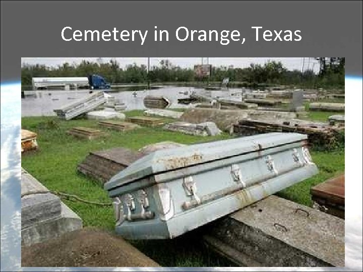 Cemetery in Orange, Texas