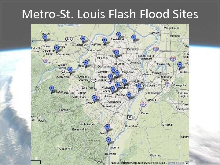 Metro-St. Louis Flash Flood Sites