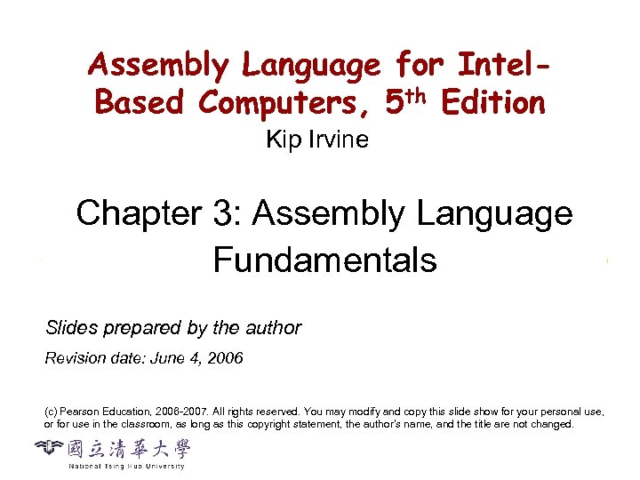 CS 2422 Assembly Language and System Programming Assembly