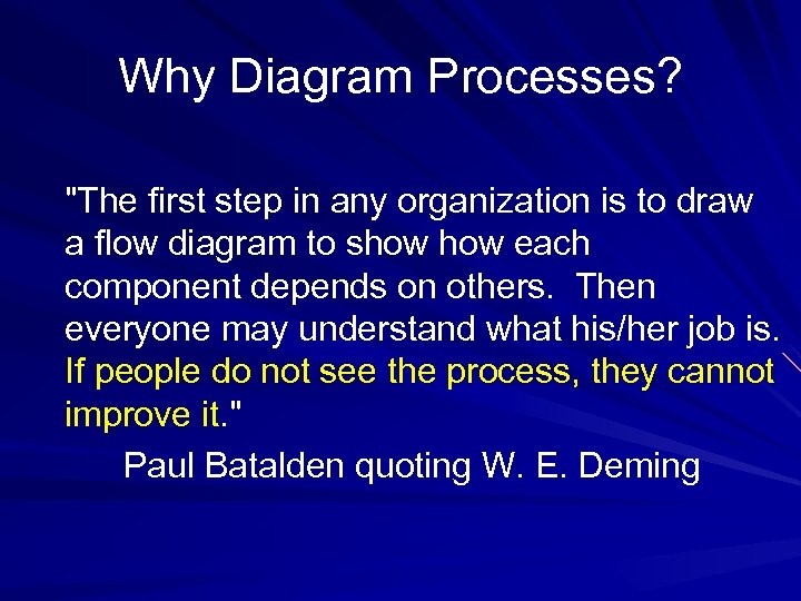 Why Diagram Processes?