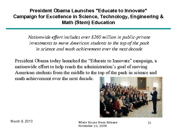 President Obama Launches