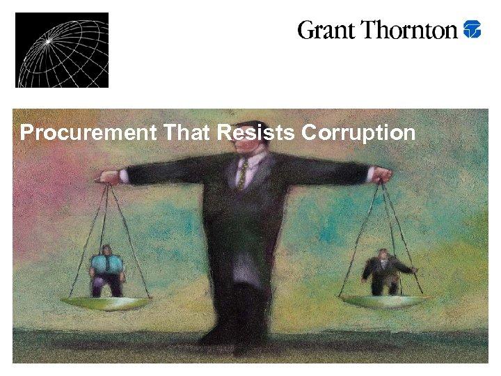 Procurement That Resists Corruption