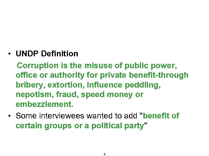 Fraud and Corruption – Definition, Types and Consequences • UNDP Definition Corruption is the