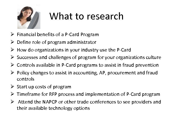 an analysis of a credit card as a purchasing tool 7 purchasing card usage spend by category % of category spend average program % of category spend top programs office equip/supplies operating 8 benefits of a p-card program why are companies using this payment method increased convenience for employees rebates & incentives.