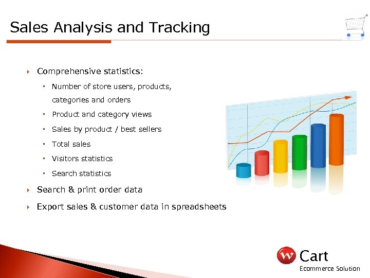 Sales Analysis and Tracking Comprehensive statistics: Number of store users, products, categories and orders
