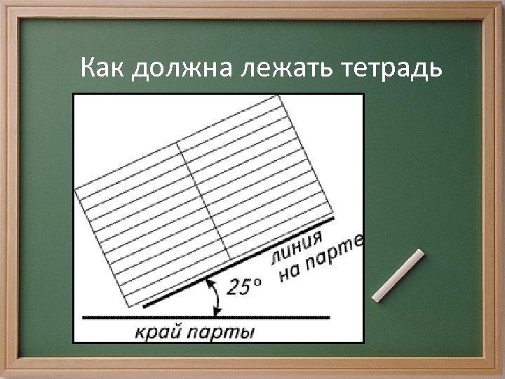 Как должна лежать тетрадь