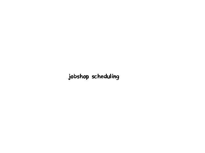 jobshop scheduling