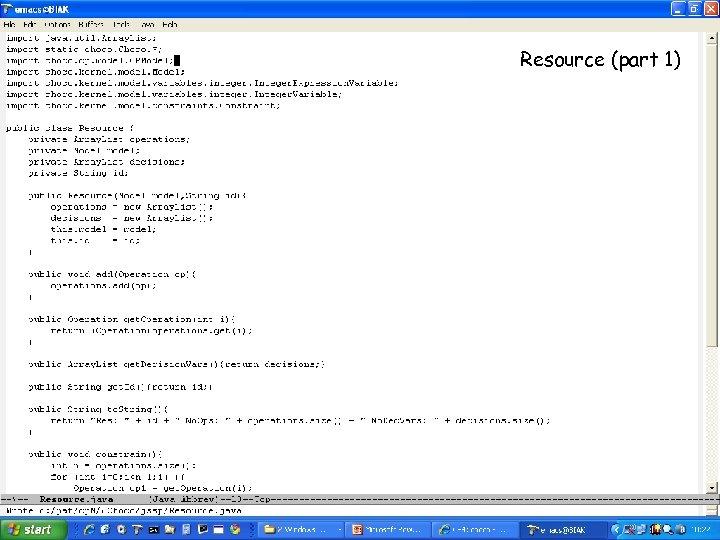 Resource (part 1)