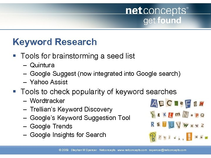 Keyword Research § Tools for brainstorming a seed list – Quintura – Google Suggest