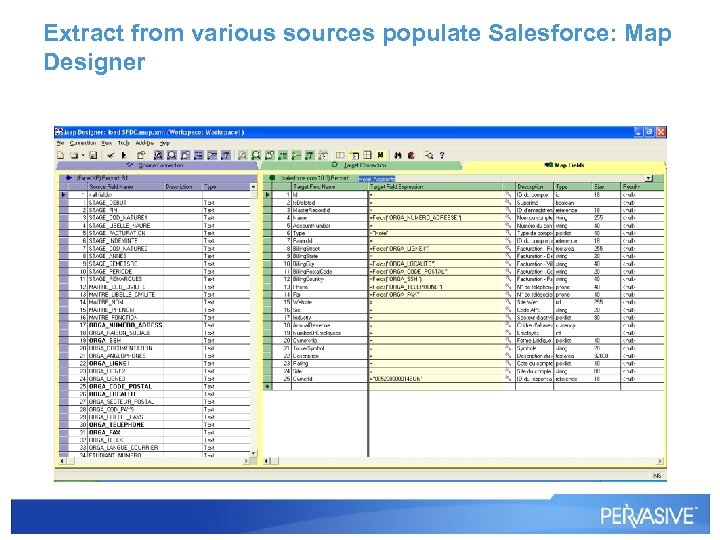 Extract from various sources populate Salesforce: Map Designer