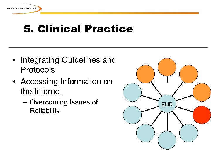 5. Clinical Practice • Integrating Guidelines and Protocols • Accessing Information on the Internet