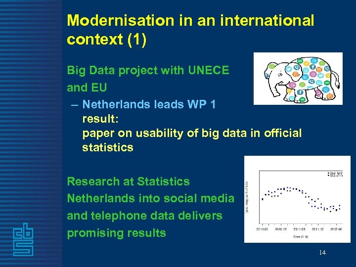 Modernisation in an international context (1) Big Data project with UNECE and EU –
