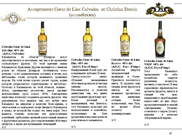 Ассортимент Coeur de Lion Calvados от Christian Drouin (ассамбляжи) Calvados Cœur de Lion Selection