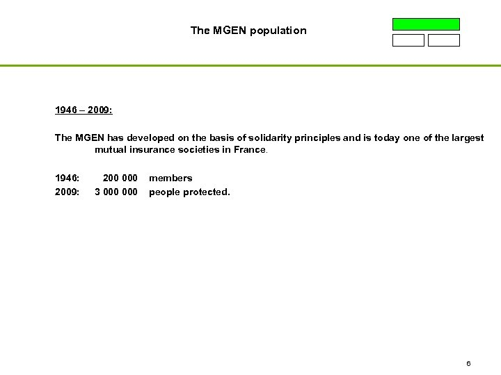 The MGEN population 1946 – 2009: The MGEN has developed on the basis of