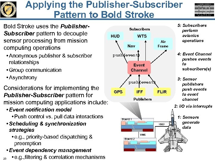 Applying the Publisher-Subscriber Pattern to Bold Stroke uses the Publisher. Subscriber pattern to decouple