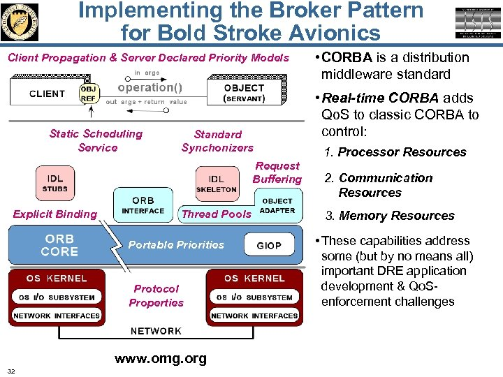 Implementing the Broker Pattern for Bold Stroke Avionics Client Propagation & Server Declared Priority