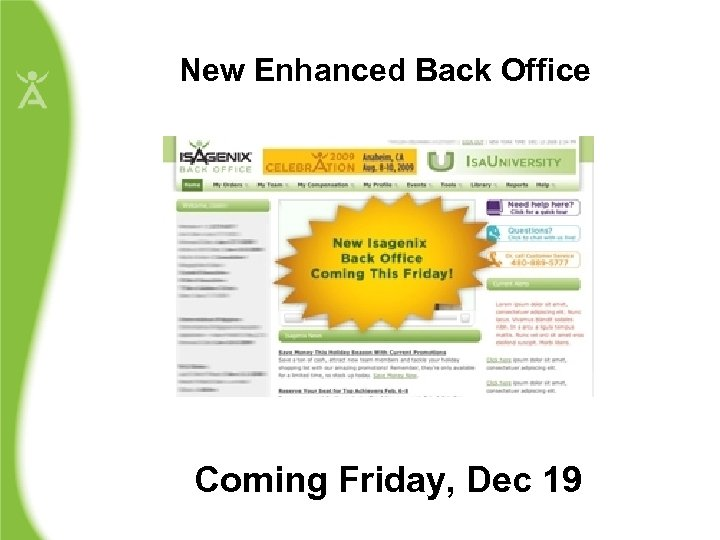 New Enhanced Back Office Coming Friday, Dec 19