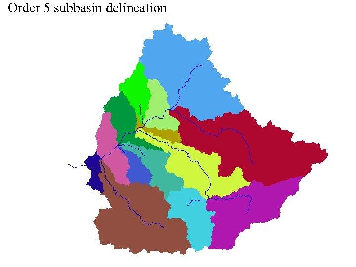 Order 5 subbasin delineation