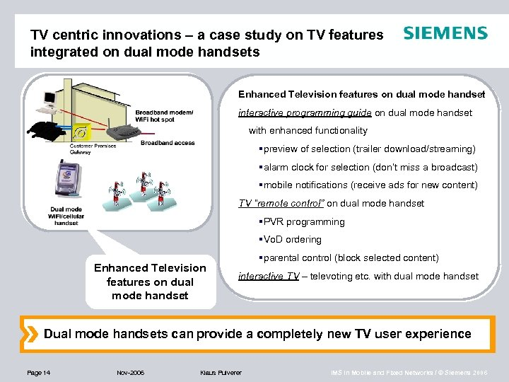 TV centric innovations – a case study on TV features integrated on dual mode