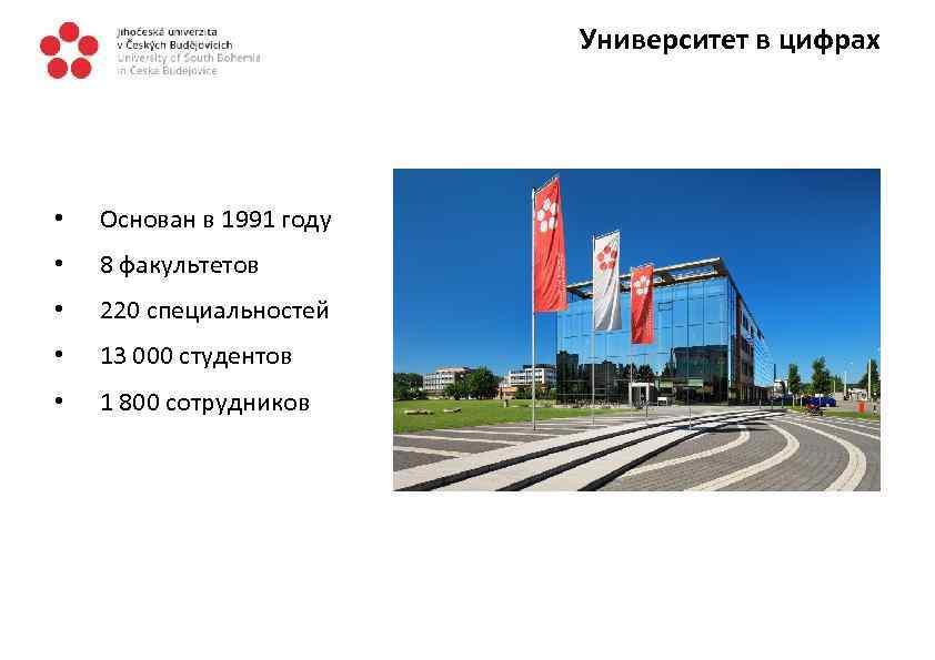 Университет в цифрах • Основан в 1991 году • 8 факультетов • 220 специальностей