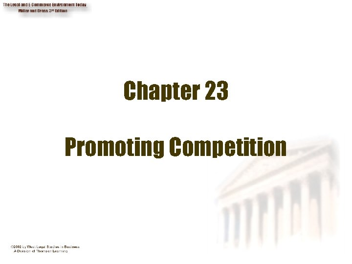 Chapter 23 Promoting Competition