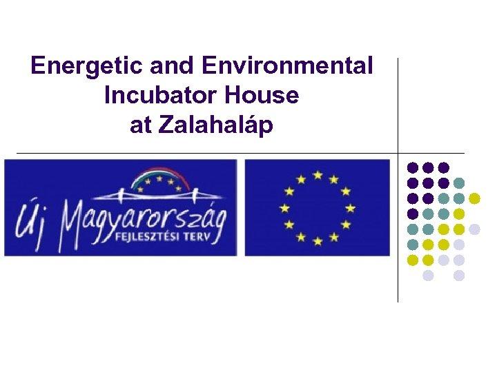 Energetic and Environmental Incubator House at Zalahaláp