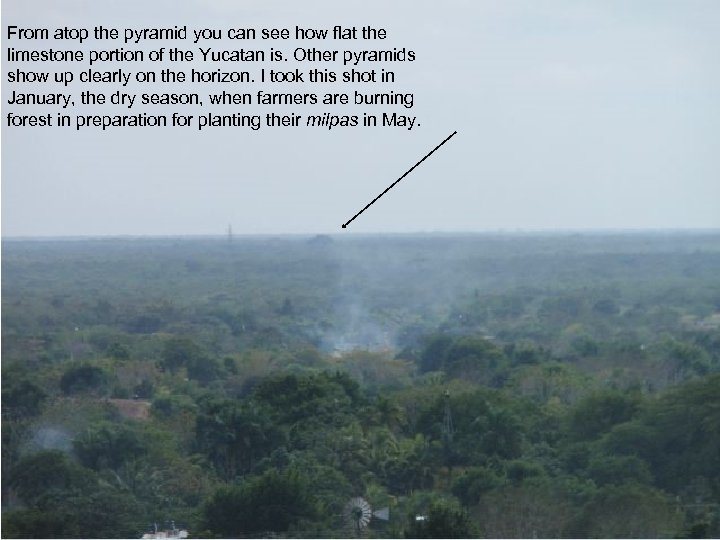 From atop the pyramid you can see how flat the limestone portion of the