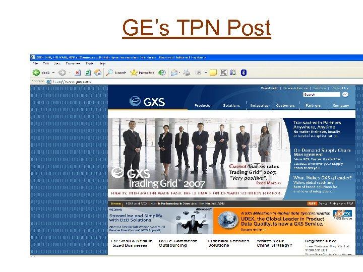GE's TPN Post