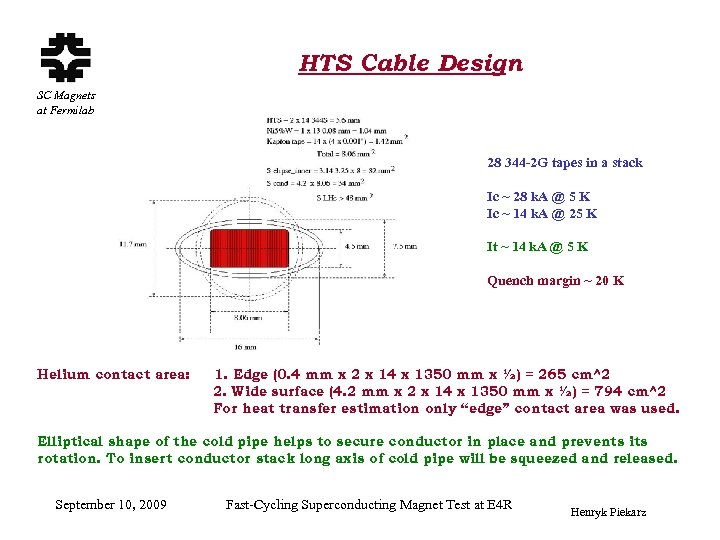 HTS Cable Design SC Magnets at Fermilab 28 344 -2 G tapes in a