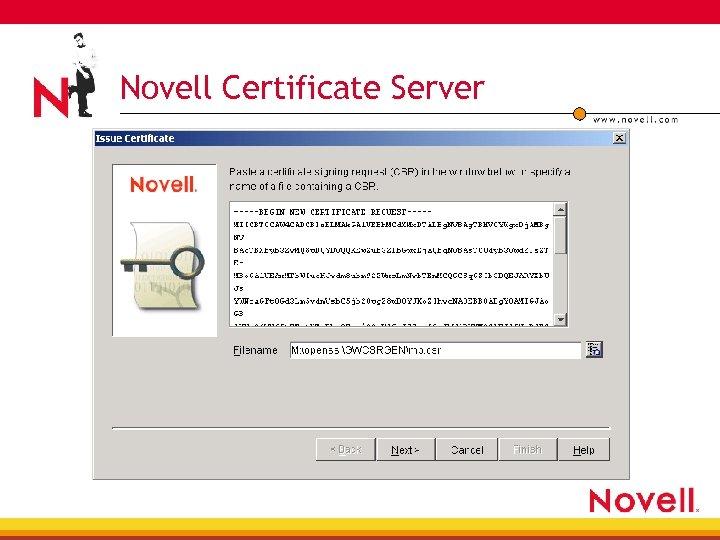 Novell Certificate Server