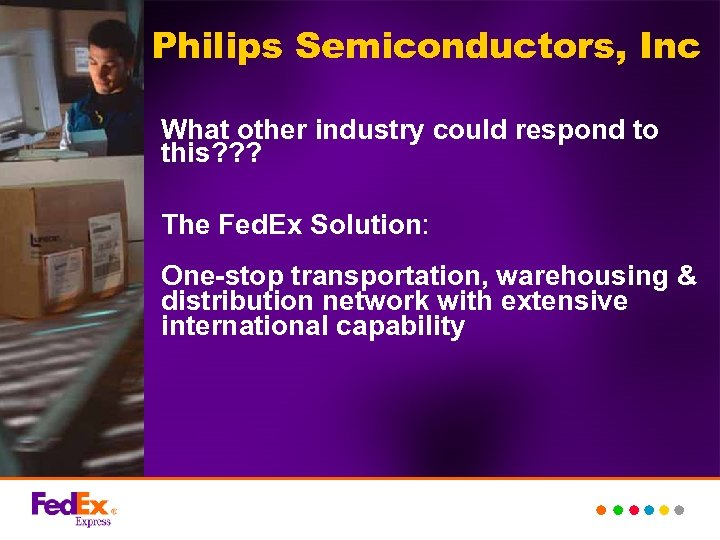 Philips Semiconductors, Inc What other industry could respond to this? ? ? The Fed.