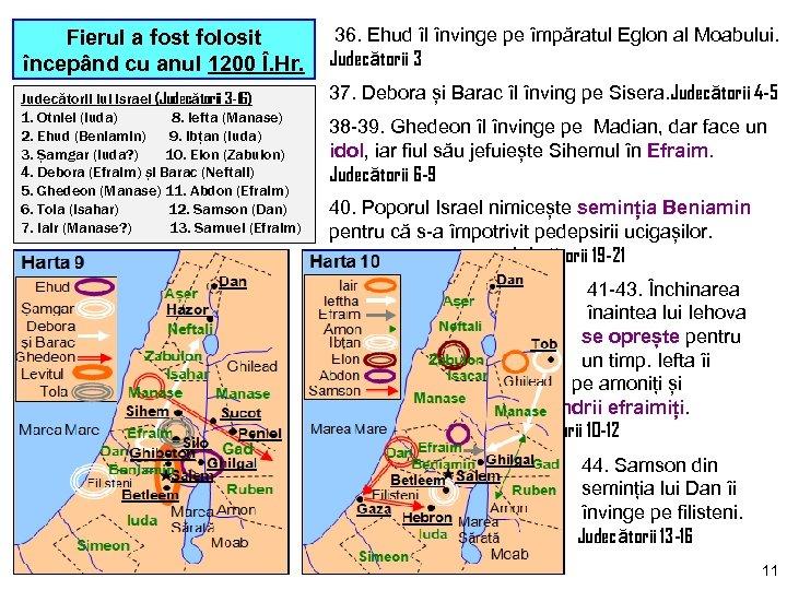 Fierul a fost folosit începând cu anul 1200 Î. Hr. Judecătorii lui Israel (Judecătorii