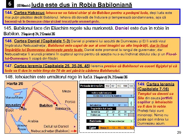 6 (10 Minute) Iuda este dus în Robia Babiloniană 144. Cartea Habacuc Iehova se