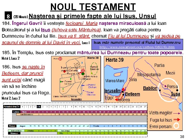 NOUL TESTAMENT 8 (20 Minute) Nașterea și primele fapte ale lui Isus, Unsul 184.