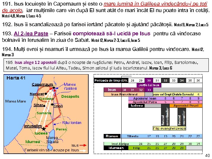 191. Isus locuiește în Capernaum și este o mare lumină în Galileea vindecându-i pe