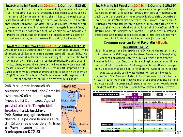 Învățăturile lui Pavel din 55 d. Hr. (1 Corinteni 11: 23 -26) Învățăturile lui